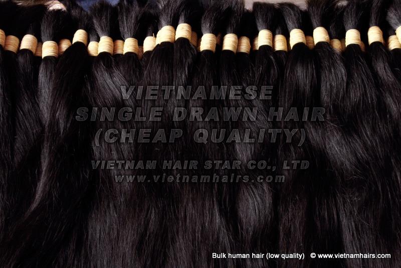 Cheap Vietnamese Single Drawn Hair